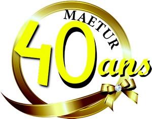 Macaron des 40 ans de la MAETUR